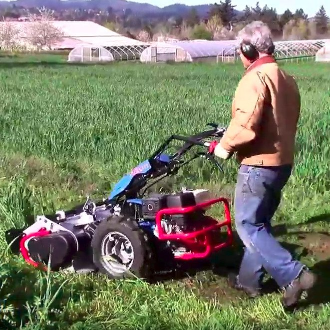 Mowing Cover Crops with the BCS Flail Mower