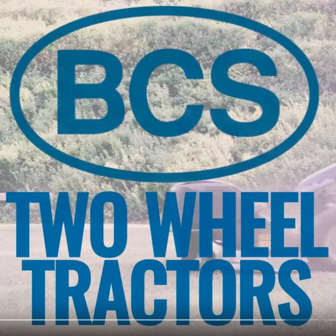 BCS two wheel tractors - demo